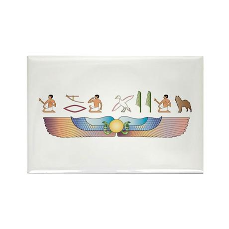 Lapphund Hieroglyphs Rectangle Magnet (10 pack)