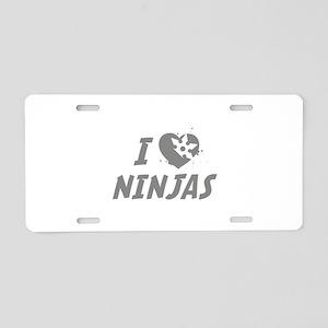 I Love Ninjas Aluminum License Plate