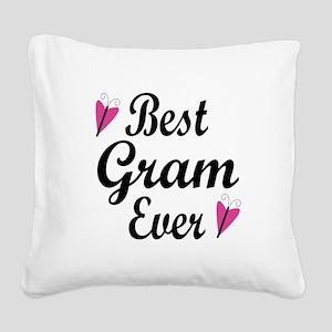 Best Gram Ever Square Canvas Pillow