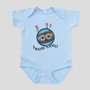 Hoots Toots Haggis Blue Circle Infant Bodysuit