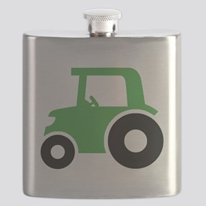 Green Tractor Flask