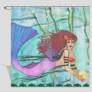 Sea Sphere Mermaid Shower Curtain