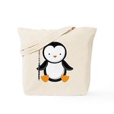Flute Music Penguin Tote Bag