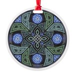 Celtic UFO Mandala Round Ornament