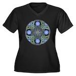 Celtic UFO M Women's Plus Size V-Neck Dark T-Shirt