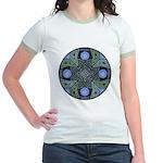 Celtic UFO Mandala Jr. Ringer T-Shirt