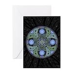 Celtic UFO Mandala Greeting Card