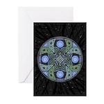 Celtic UFO Mandala Greeting Cards (Pk of 10)