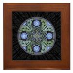 Celtic UFO Mandala Framed Tile