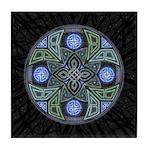 Celtic UFO Mandala Tile Coaster