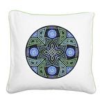 Celtic UFO Mandala Square Canvas Pillow