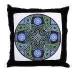 Celtic UFO Mandala Throw Pillow