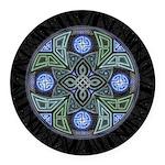 Celtic UFO Mandala Round Car Magnet