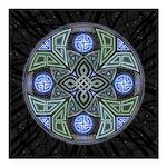 Celtic UFO Mandala Square Car Magnet 3