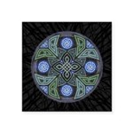 Celtic UFO Mandala Square Sticker 3