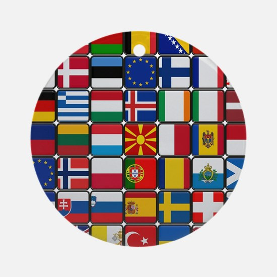 Flag of Flag Round Ornament