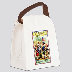 4th of July United We Stand Canvas Lunch Bag