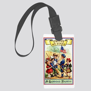 4th of July United We Stand Luggage Tag