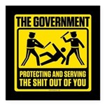 Protecting And Serving Square Car Magnet 3