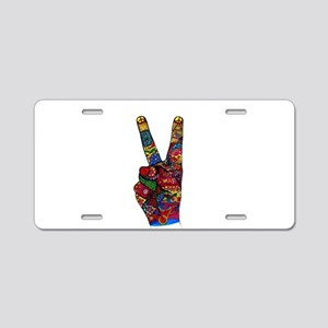 Make Peace Not War Aluminum License Plate