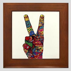 Make Peace Not War Framed Tile