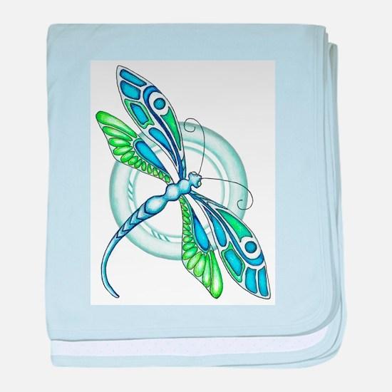 Decorative Dragonfly Baby Blanket