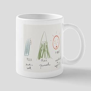 Peek/peak/pique Mugs