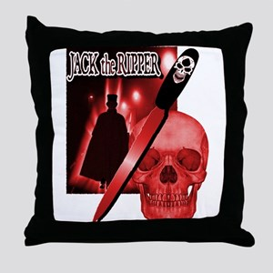 Jack's Back Red Throw Pillow