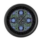 Celtic UFO Mandala Large Wall Clock