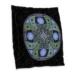 Celtic UFO Mandala Burlap Throw Pillow