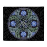 Celtic UFO Mandala Throw Blanket