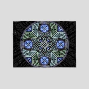 Celtic UFO Mandala 5'x7'Area Rug