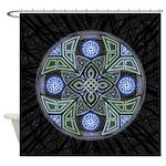 Celtic UFO Mandala Shower Curtain