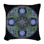 Celtic UFO Mandala Woven Throw Pillow