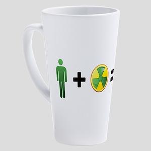Hulk Emoji 17 oz Latte Mug