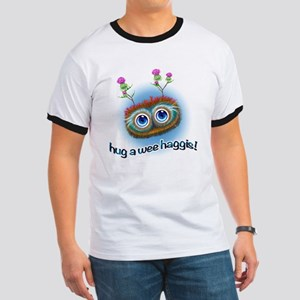 Hoots Toots Haggis 'Hugs' Ringer T