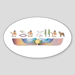 Shepherd Hieroglyphs Oval Sticker