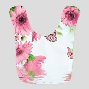 Pink Butterflies Polyester Baby Bib