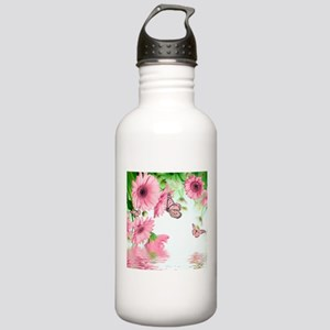 Pink Butterflies Stainless Water Bottle 1.0L
