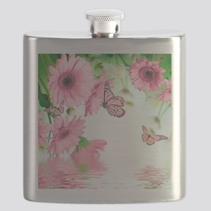 Pink Butterflies Flask