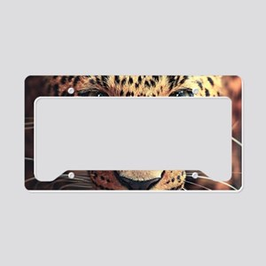 Leopard Portrait License Plate Holder