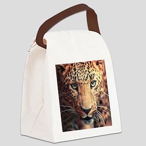 Leopard Portrait Canvas Lunch Bag
