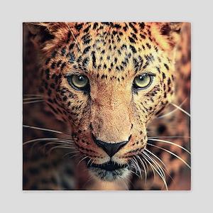 Leopard Portrait Queen Duvet