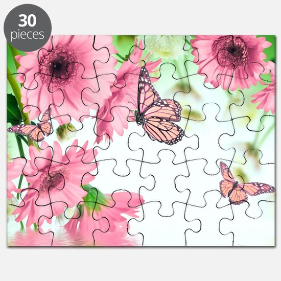 Pink Butterflies Puzzle