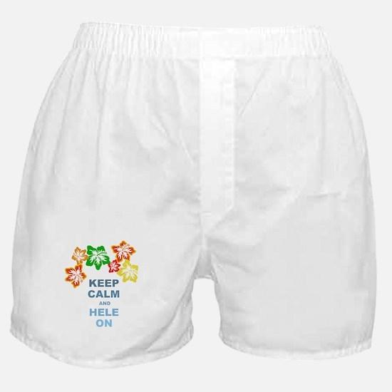 Keep Calm Hele On Boxer Shorts