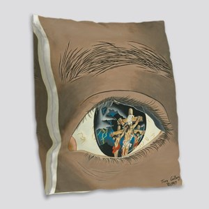 The Mystery of Christ Burlap Throw Pillow