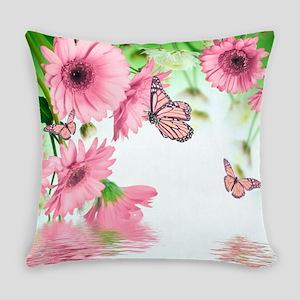 Pink Butterflies Everyday Pillow