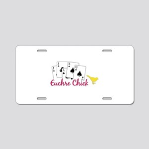 Euchre Chick Aluminum License Plate