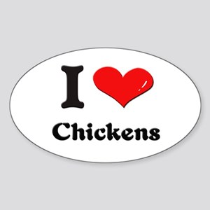 I love chickens Oval Sticker