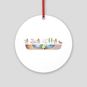 Dandie Hieroglyphs Ornament (Round)